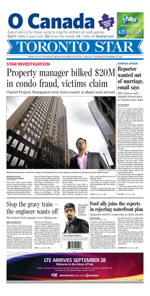 Front Page September 15, 2011