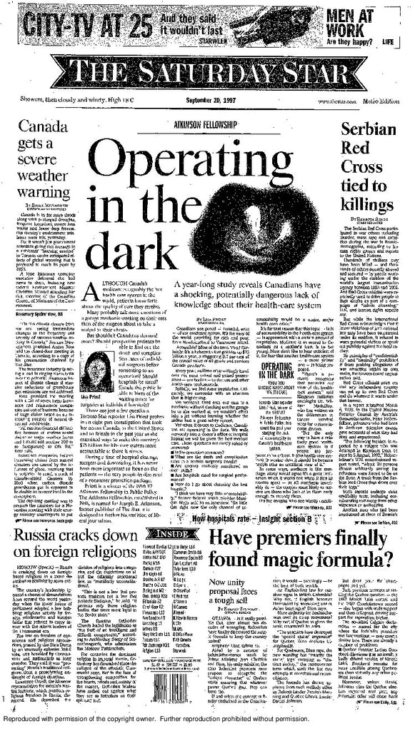 Front Page September 20 1997