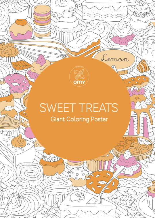 Sweet Treats Giant Coloring Poster