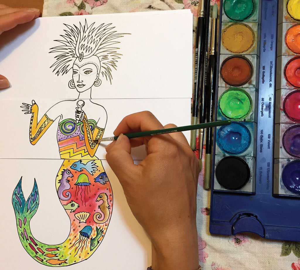 Color Her: Mix 'n Match Coloring Book