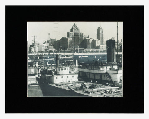 Matted: Toronto Waterfront, 1955