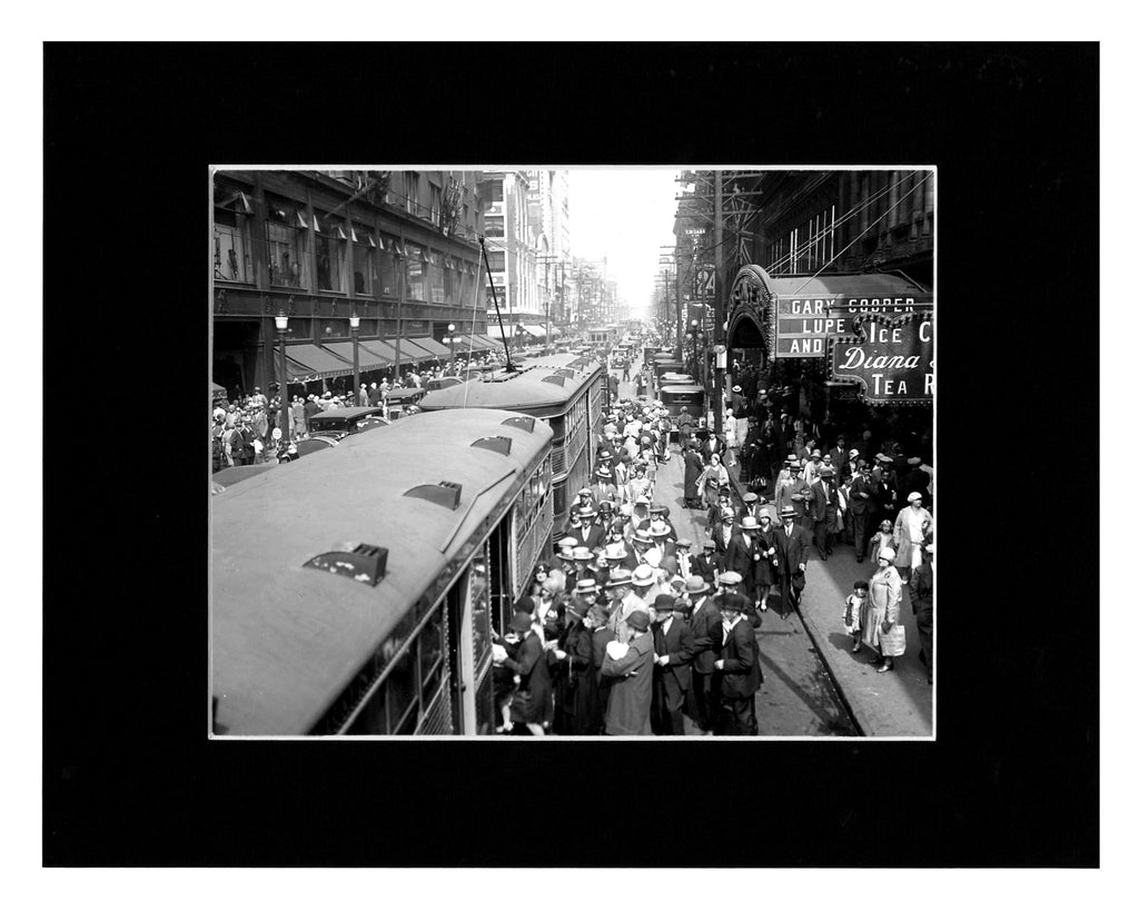 Image of Matted: Yonge Street Streetcar, 1929 photograph