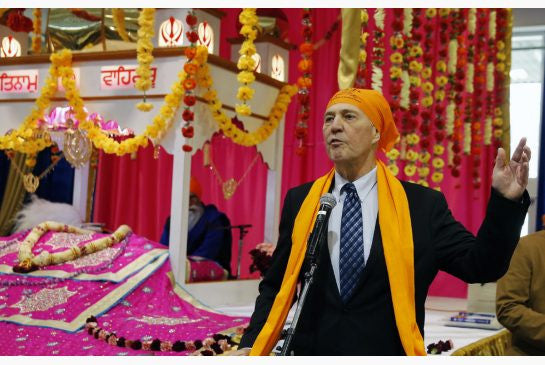 Blair at Sikh celebration
