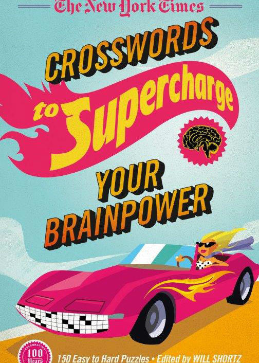 Image of The New York Times Crosswords to Supercharge Your Brainpower book cover
