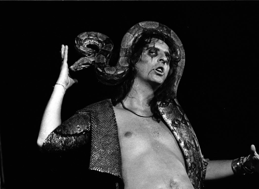Alice Cooper at Varsity Stadium Sept. 2, 1972 photograph