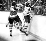 Leafs' Borje Salming in Fight