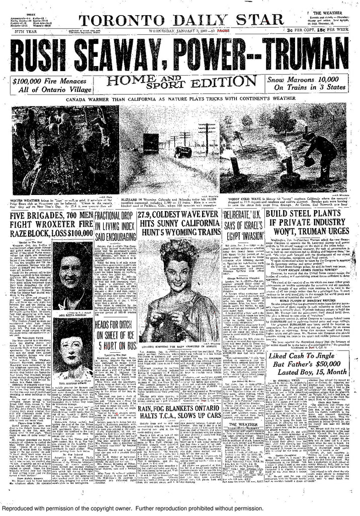 Front Page January 5, 1949