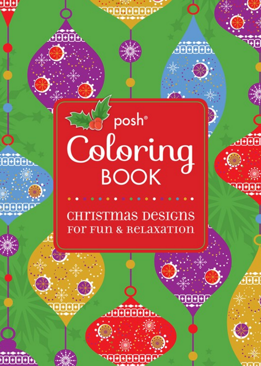 Posh Adult Coloring Book: Christmas Designs for Fun and Relaxation
