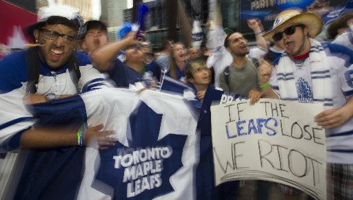 Fans at Leafs tailgate party photograph