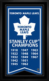 Toronto Maple Leafs - Framed Stanley Cup Banner