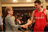 Wynne and lifeguard