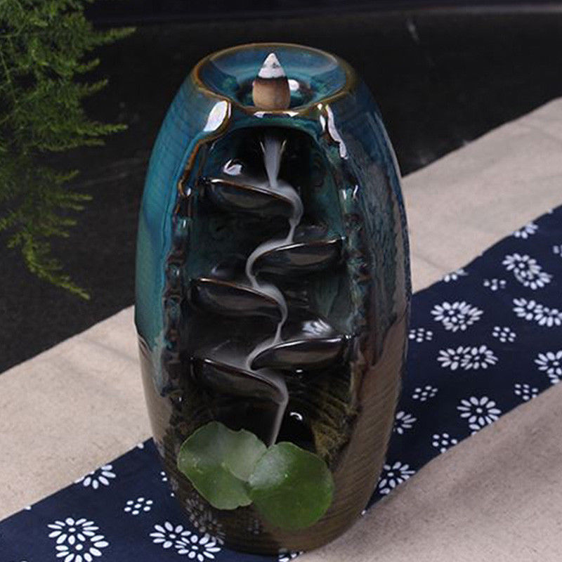 Zen Collective: Waterfall Backflow Incense Burner and special incense cones