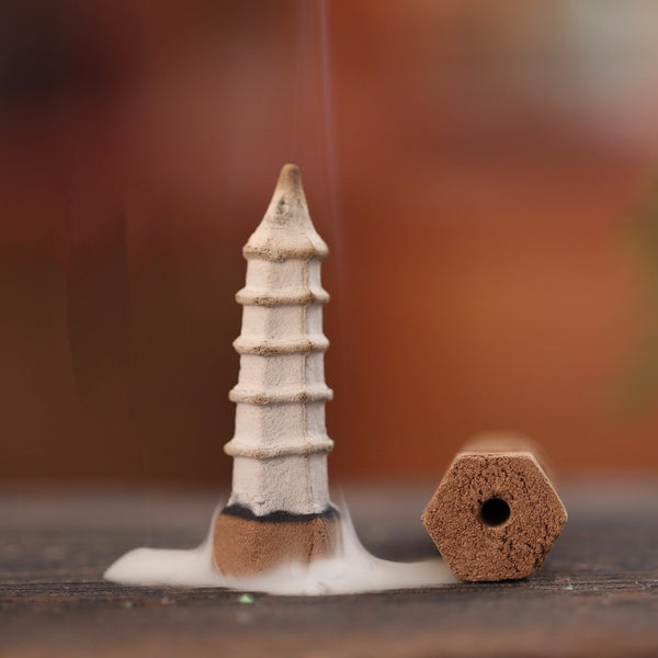 pagoda tower backflow incense cones