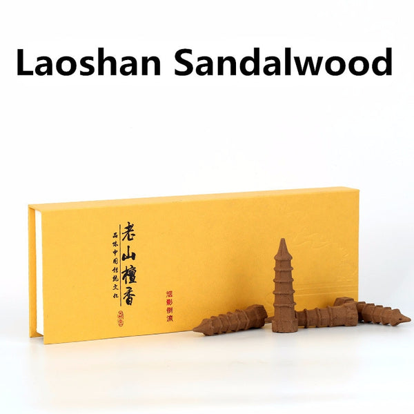 laoshan sandalwood pagoda tower incense cones