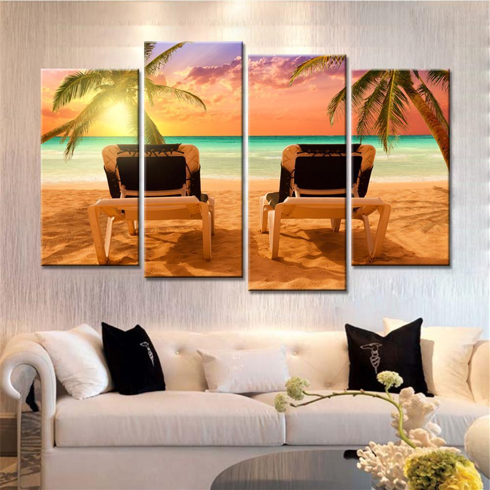 "Up to 65% OFF -  - Limited Release: ""Lover's Sunset"" Modern Canvas Prints 