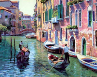 Up to 65% OFF - diy painting - Gondala in Venice DIY Paint-By-Number Kit | Wiki Wiseman