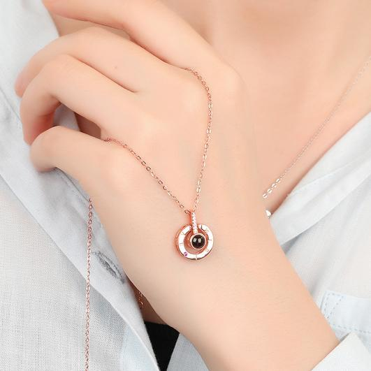 "Up to 65% OFF - Pendant Necklaces - ""Essence of Love"" - Unique Inscription Pendant in 100 Languages 