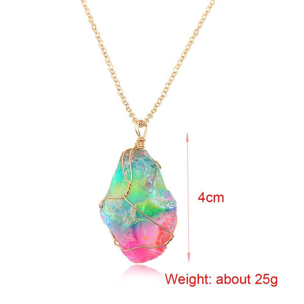 Up to 65% OFF - Pendant Necklaces - Limited Release: Aurora | Rainbow Aura Cleansing Quartz Pendant | Wiki Wiseman
