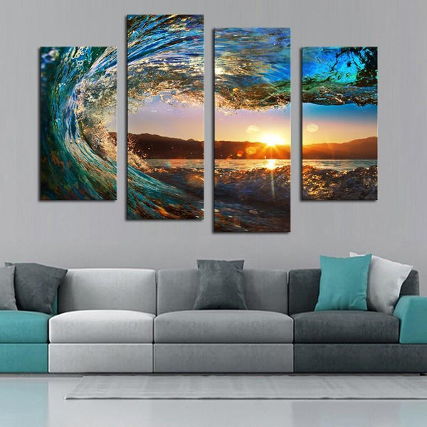 "Up to 65% OFF -  - ""The Perfect Wave"" Modern Canvas Prints 