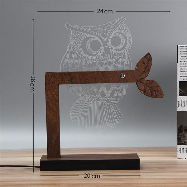 Up to 65% OFF - Night Lights - Elegant 3D Owl Nightlight | Wiki Wiseman