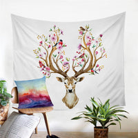 "Up to 65% OFF - Tapestry - ""Blossomed Deer"" Tapestry 