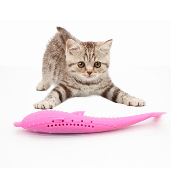 Soft Silicone Interactive Cat Dental Toy