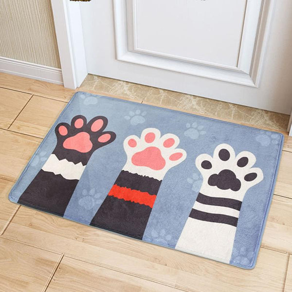 "Up to 65% OFF - Mat - ""Choose MEow"" Anti-Slip Plush Floor Mat 
