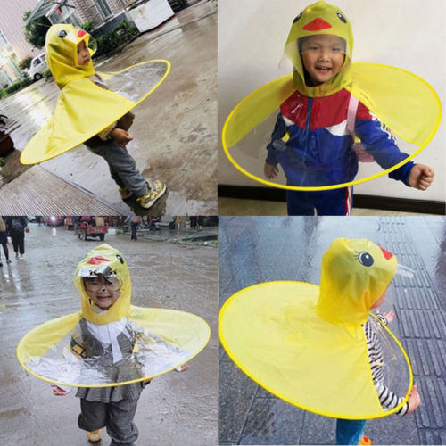 Adorable UFO Duck Raincoat For Kids