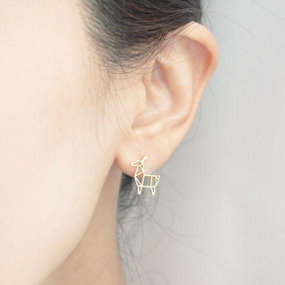 Up to 65% OFF -  - Origami Deer Stud Earrings | Wiki Wiseman