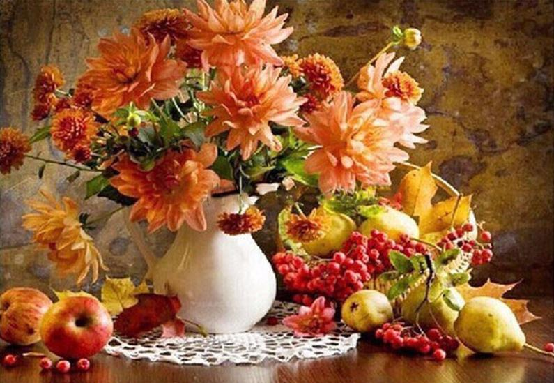 Up to 65% OFF - diy painting - Autumn's Harvest DIY Paint-By-Number Kit | Wiki Wiseman