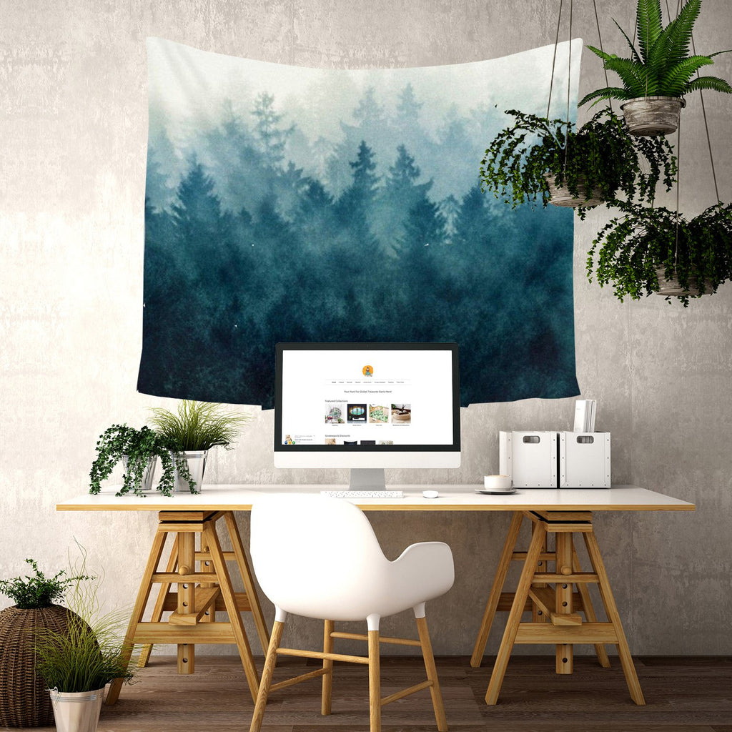 "Up to 65% OFF -  - ""Misty Evergreens"" Tapestry 