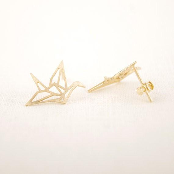 Up to 65% OFF -  - Origami Wild Crane Stud Earrings | Wiki Wiseman