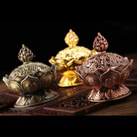 Up to 65% OFF -  - Tibetan Bronze Lotus Incense Burner | Wiki Wiseman