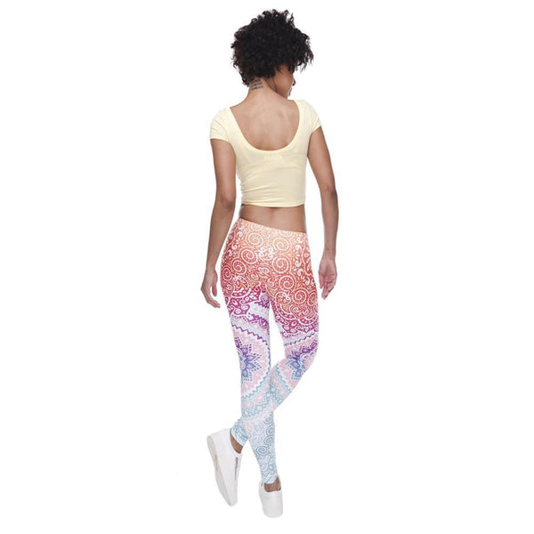 Up to 65% OFF -  - Vibrant Mandala Elastic Fitness Yoga Leggings | Wiki Wiseman