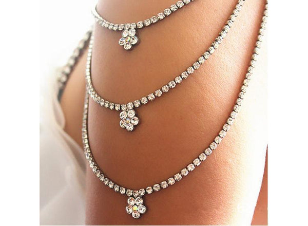 Up to 65% OFF -  - Beautiful Flower Rhinestone Shoulder Chain Bra Straps | Wiki Wiseman