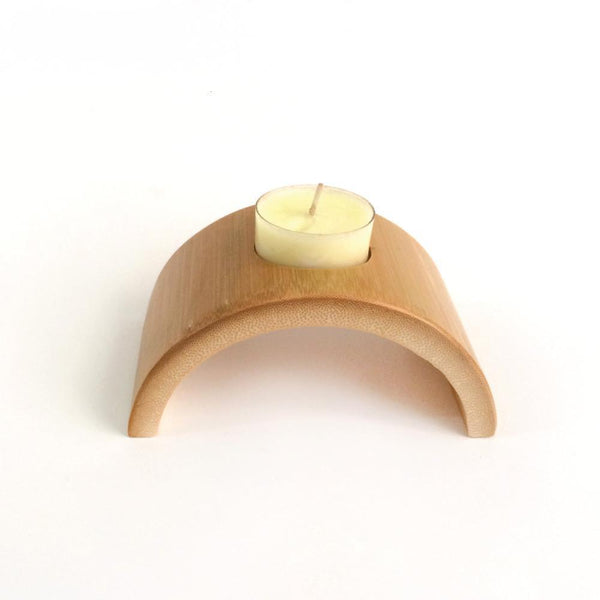 Up to 65% OFF -  - Creative Bamboo Candle & Candlestick Candle Holder | Wiki Wiseman