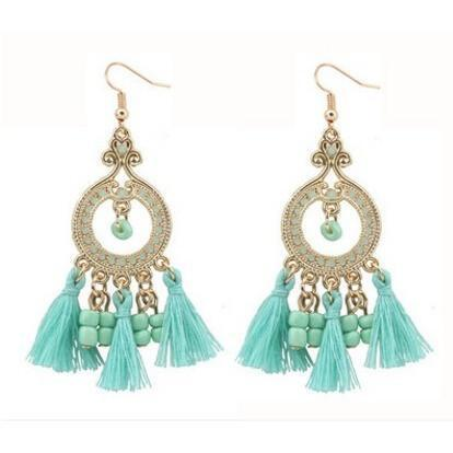Up to 65% OFF -  - Bohemian Vintage Beaded Tassels Crystals Earrings | Wiki Wiseman