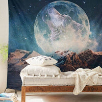 "Up to 65% OFF -  - ""Wolf in Moonlight"" Tapestry 