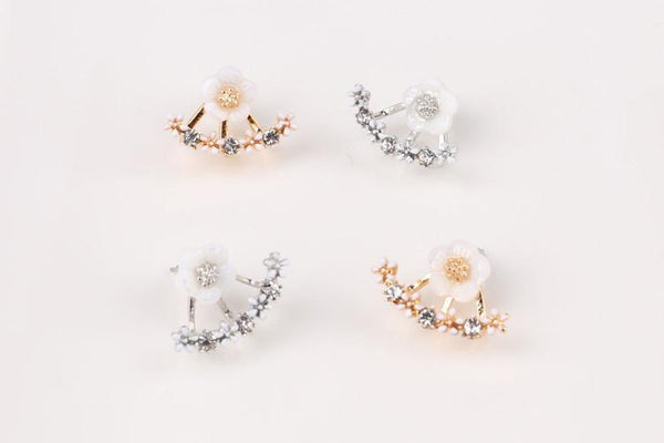 Up to 65% OFF -  - Spring Flower Rhinestone Stud Earrings | Wiki Wiseman