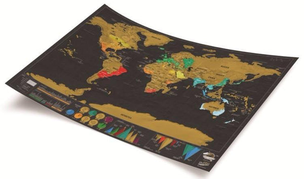 Up to 65% OFF -  - Limited Edition: World Traveler Deluxe Scratch Map - FREE SHIPPING | Wiki Wiseman