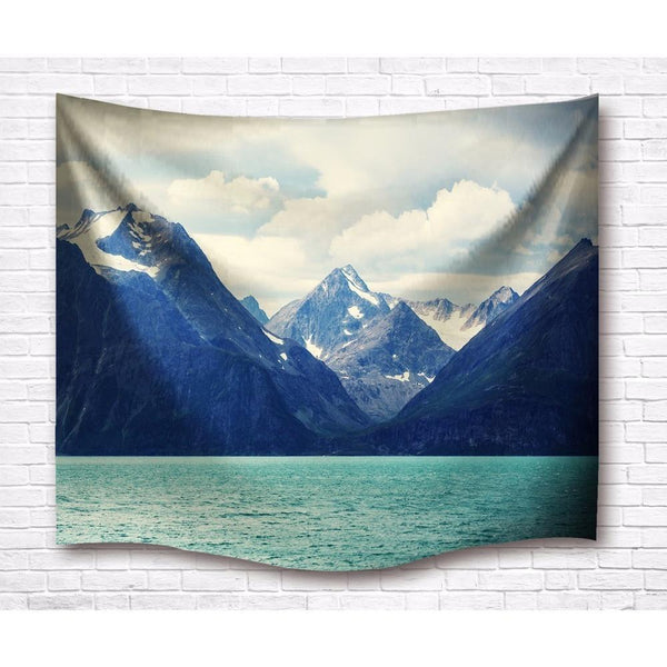 "Up to 65% OFF -  - ""Where Mountains meet Lakes"" Tapestry 