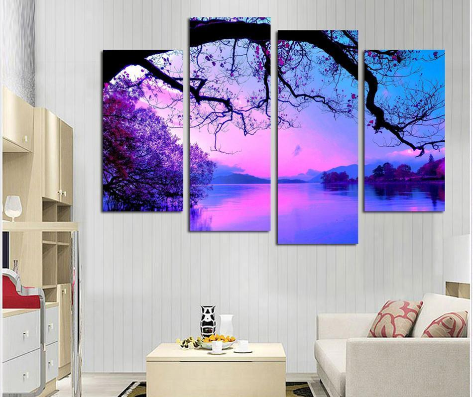 "Up to 65% OFF -  - ""Royal Sunset"" Modern Canvas Prints 