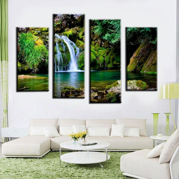 "Up to 65% OFF -  - ""Jungle Paradise"" Modern Canvas Prints 
