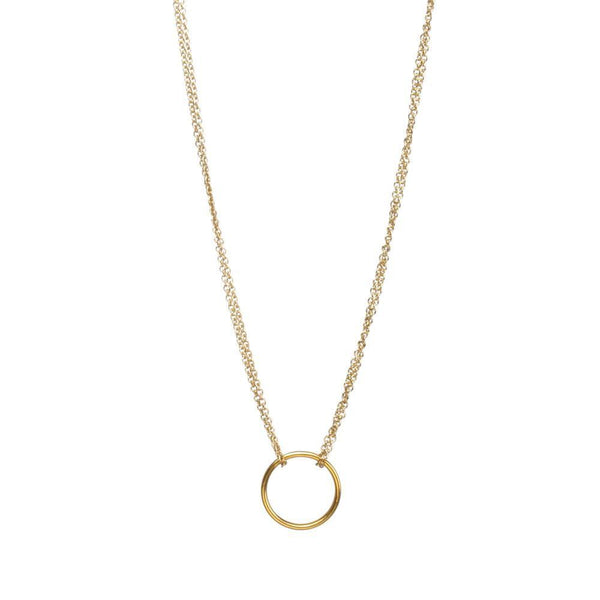 Up to 65% OFF -  - $10 FLASH DEAL: karma Circle Ring Chain Necklace | Wiki Wiseman