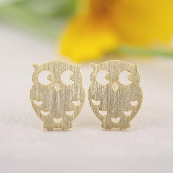 Up to 65% OFF -  - Elegant Owl Stud Earrings | Wiki Wiseman