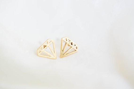 Up to 65% OFF -  - Origami Elegant Diamond Stud Earrings | Wiki Wiseman