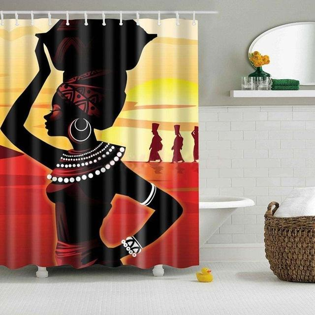 "Up to 65% OFF - Shower Curtains - ""Caregiver"" African Shower Curtain 