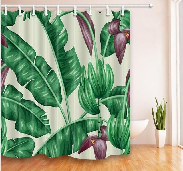 "Up to 65% OFF - Shower Curtains - ""Mystique"" Leaf Collection Shower Curtain 