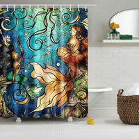 "Up to 65% OFF - Shower Curtains - ""Sea Faerie"" Mermaid Shower Curtain 