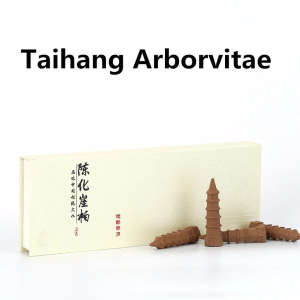 taihang arborvitae incense cones with temple shape